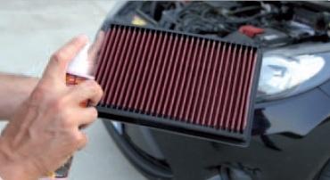 pulizia filtro aria sportivo