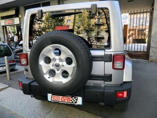 Jeep wrangler powered by 9000 Giri
