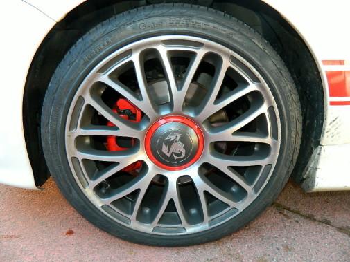 Verniciatura pinze freno Fiat 500 Abarth