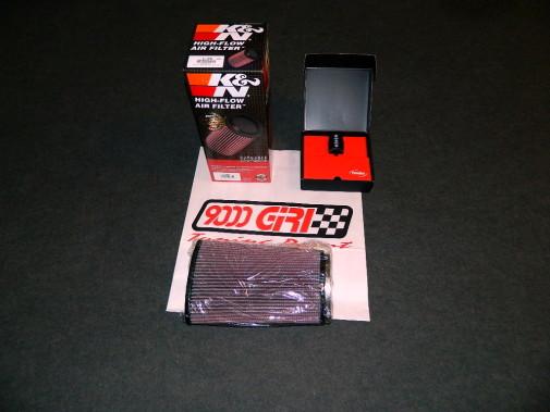 filtro aria sportivo Kn + pedal box Porsche Cayman 2.7
