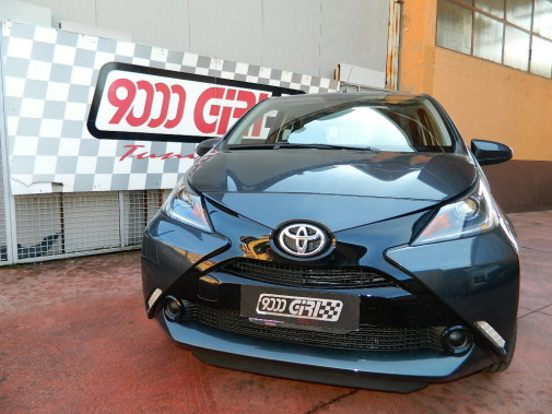 Toyota Aygo powered by 9000 Giri