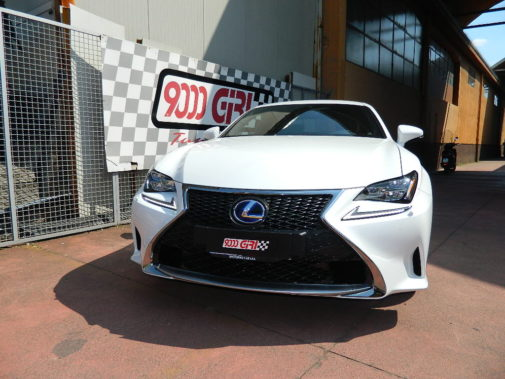 lexus rc powered by 9000 giri