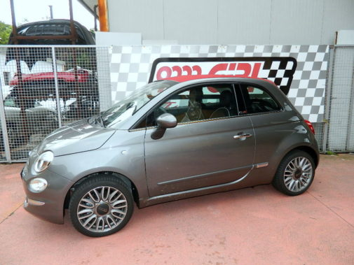 Fiat 500 cabrio powered by 9000 Giri