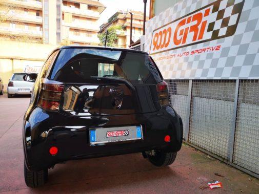 Toyota Iq powered by 9000 Giri
