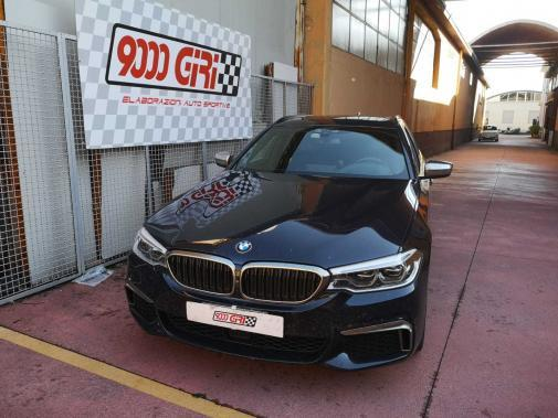 Bmw M550d powered by 9000 Giri