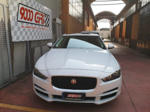 Jaguar Xe powered by 9000 Giri
