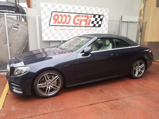 Mercedes E 220 cdi cabrio powered by 9000 Giri