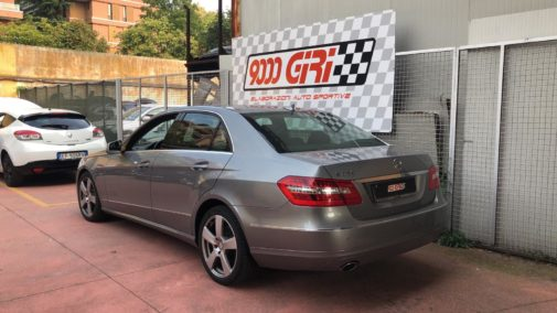 Mercedes E350 cdi powered by 9000 Giri