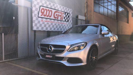 Mercedes c250d cabrio powered by 9000 Giri