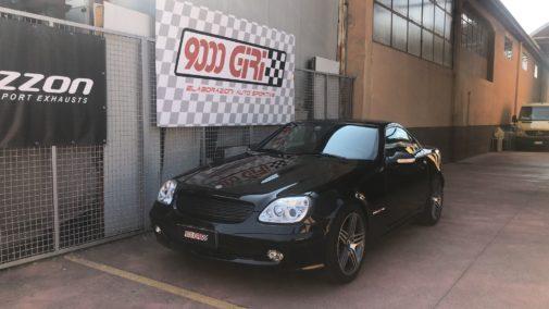 Mercedes Slk 200 kompressor powered by 9000 Giri